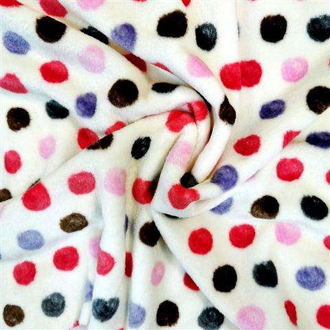 Multi Dots Fleece Design 3