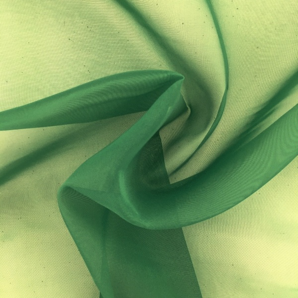 Plain Voile FLAME RETARDANT Green