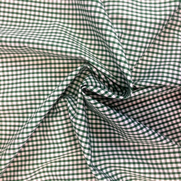 1/8'' Polycotton Gingham EMERALD GREEN