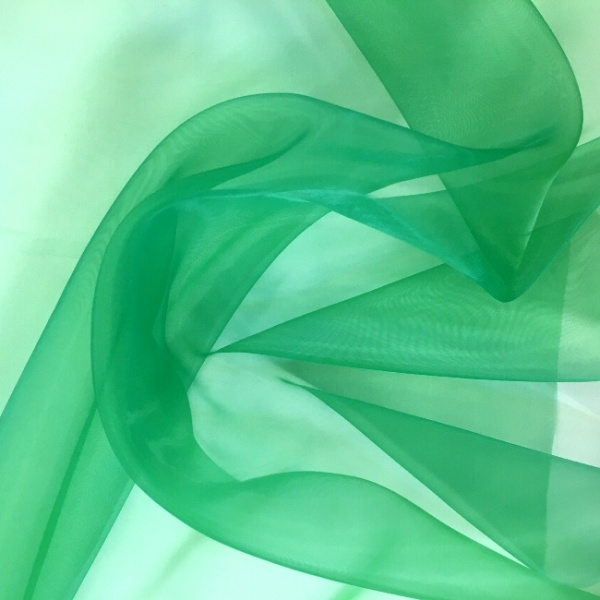 Plain Dyed Organza Green