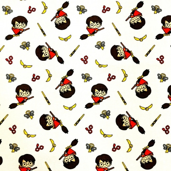 Harry Potter - Kawaii Broomstick 100% Cotton