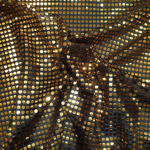 6mm Sequin Gold On Black
