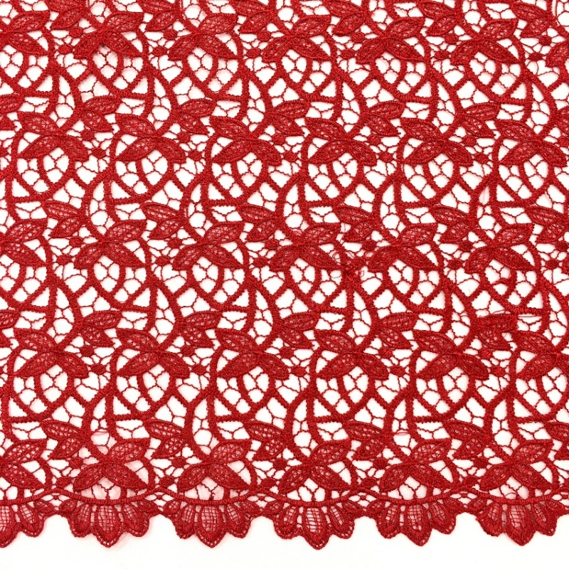 Scalloped Willow Lace MAROON