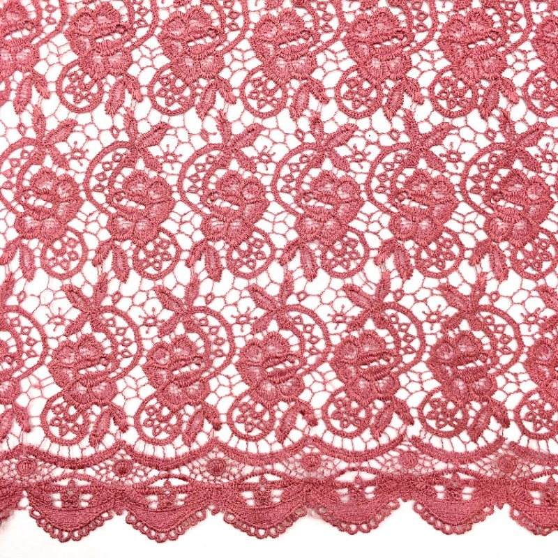 Scalloped Floral Lace DUSKY PINK