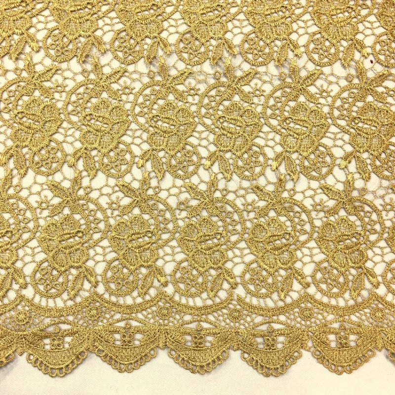 Scalloped Floral Lace GOLD