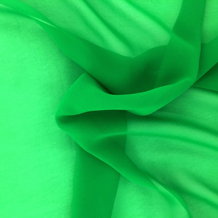 Chiffon Fabric Green