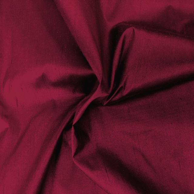 Dupion Silk - BORDEAUX