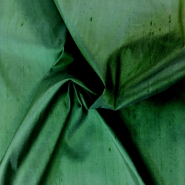Dupion Silk - FOREST GREEN