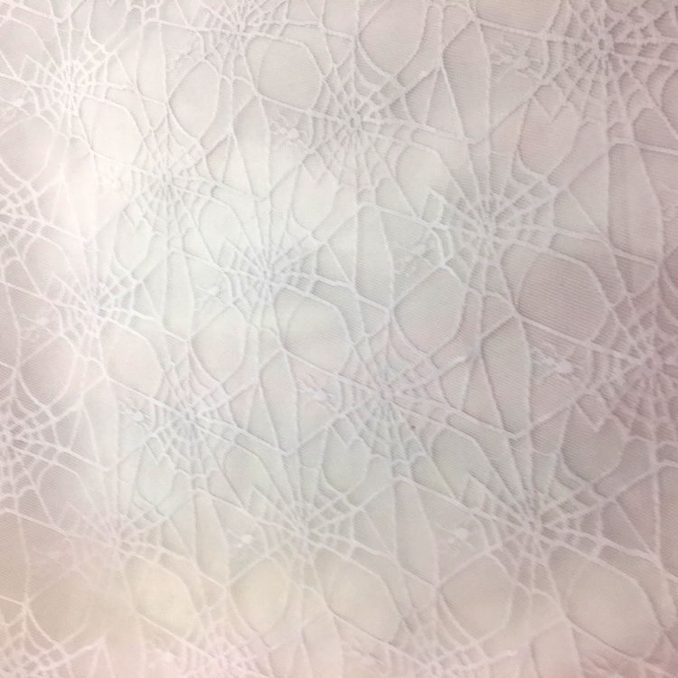 Halloween Fabric White Spiderweb Net