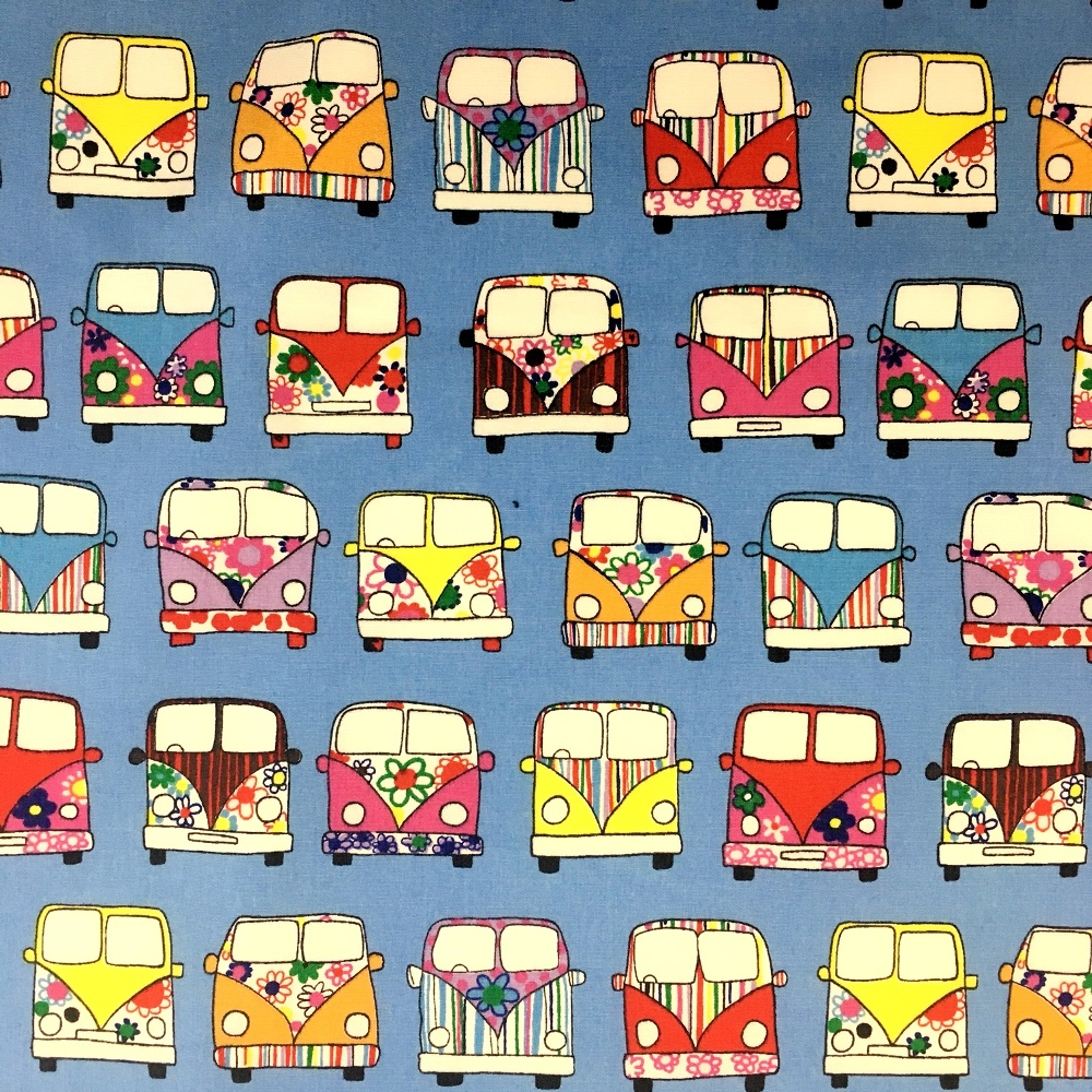 CAMPER VAN 100% COTTON SKY BLUE