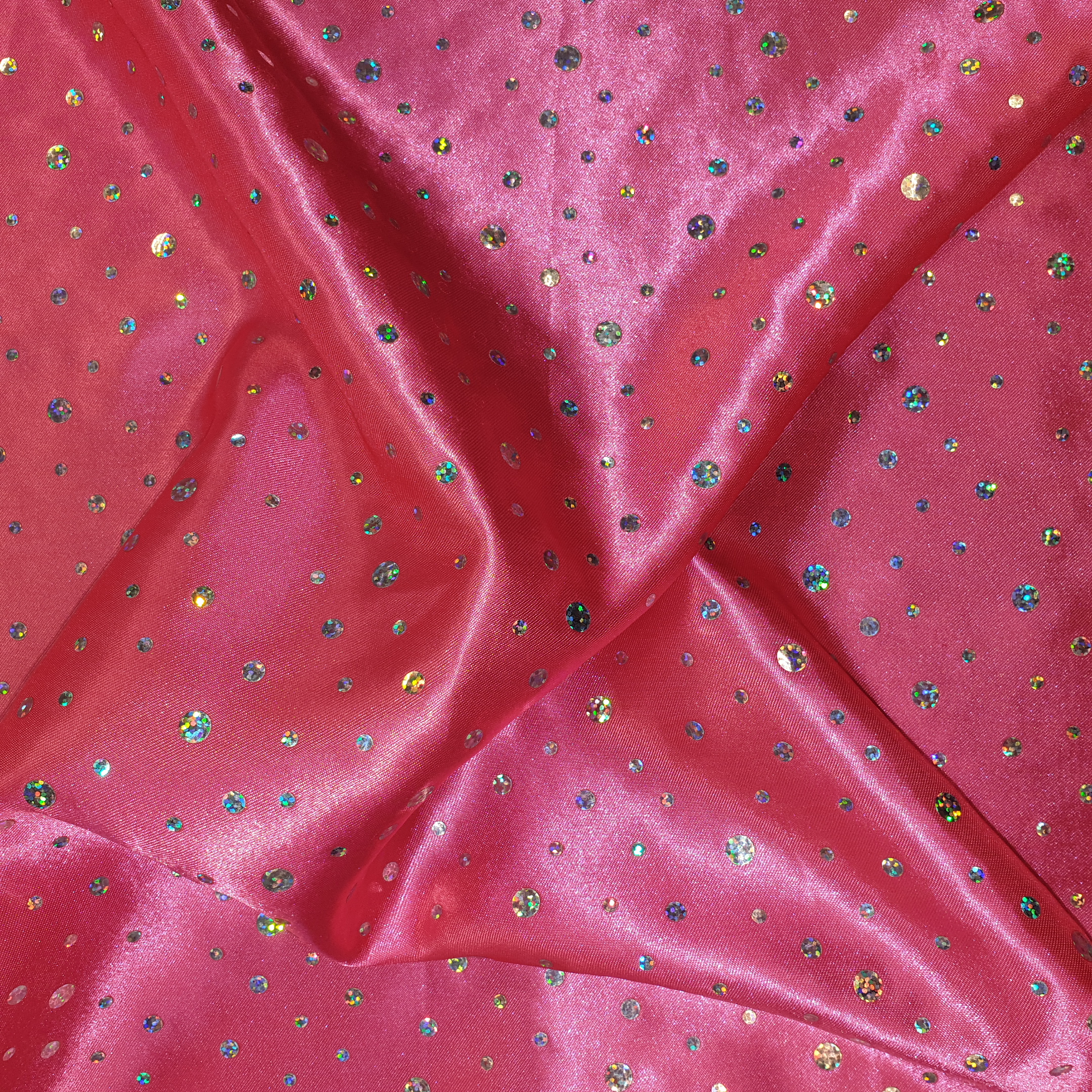Sequin Satin BRIGHT PINK