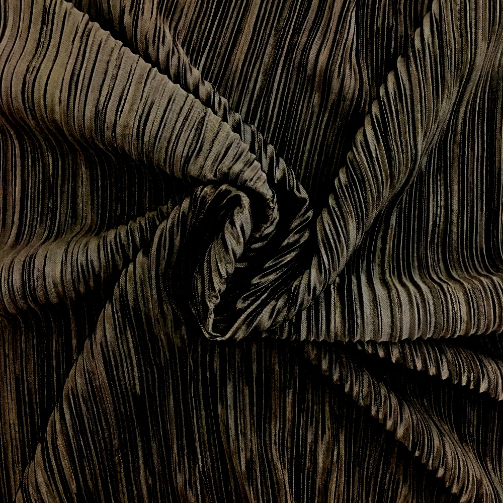 Pleated Polyester BLACK