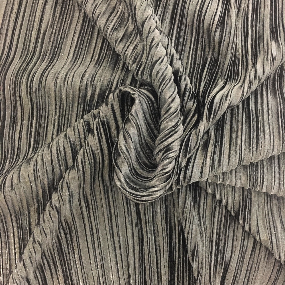 Pleated Polyester DARK GREY