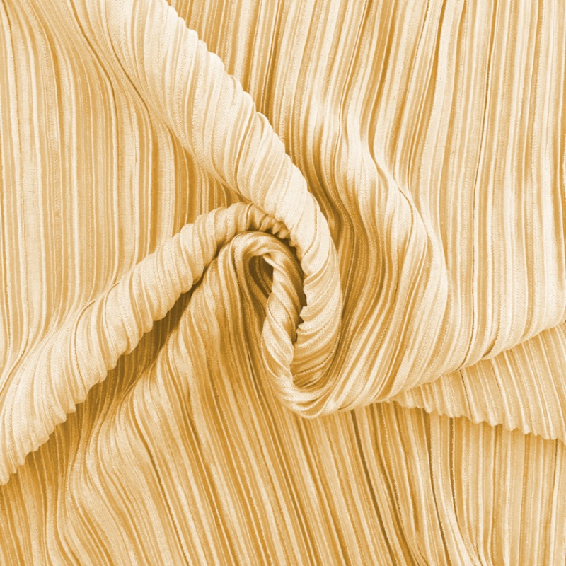 Pleated Polyester ANTIQUE GOLD