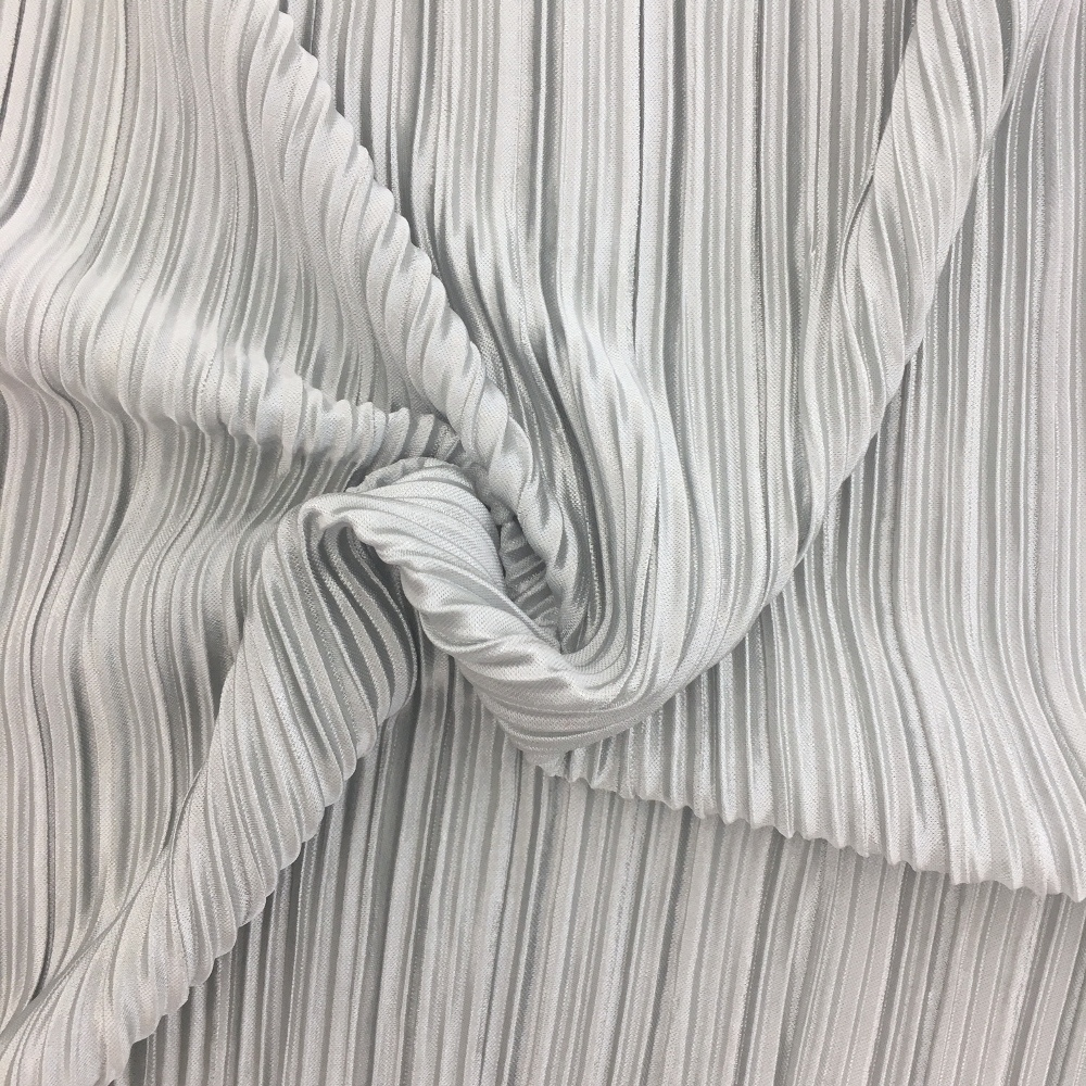 Pleated Polyester SILVER