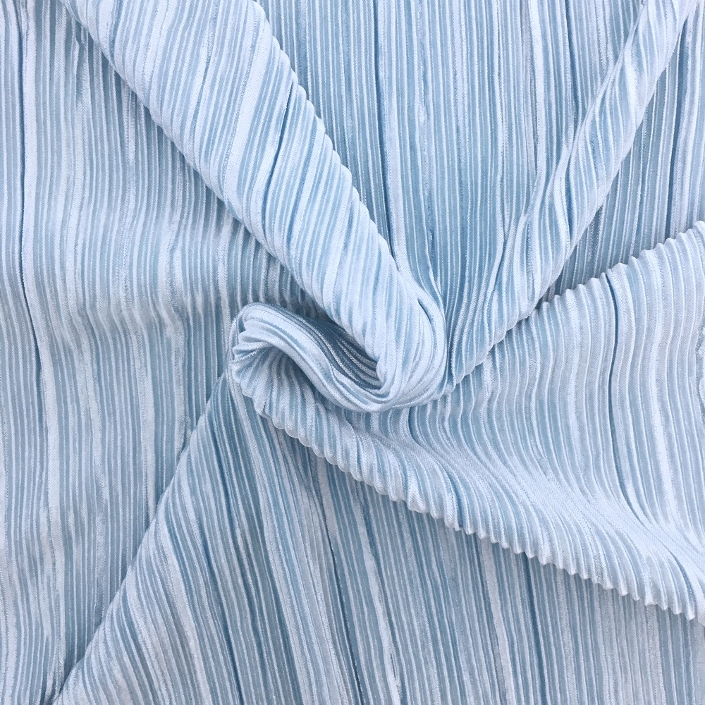 Pleated Polyester SKY BLUE