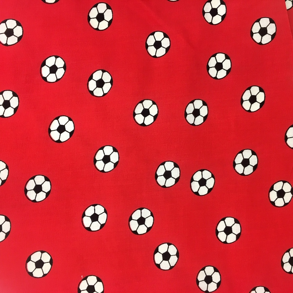 Football Polycotton RED