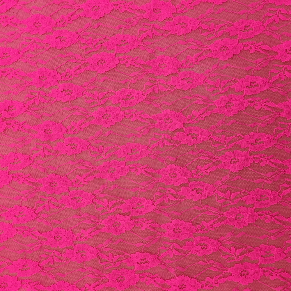 Stretch Lace Bright Pink