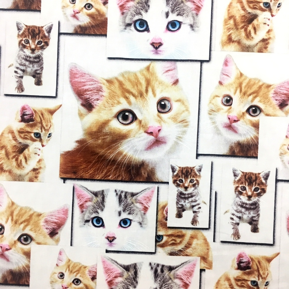 100% Cotton Cats DESIGN 1