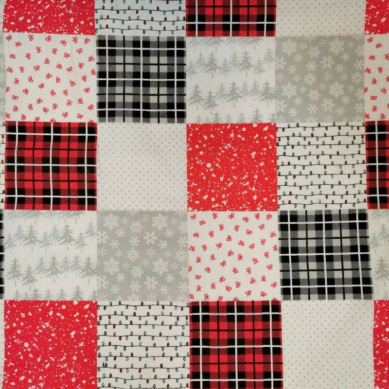 Christmas Polycotton PATCHWORK 2