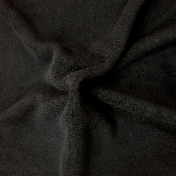 Plain Fleece Fabric  BLACK