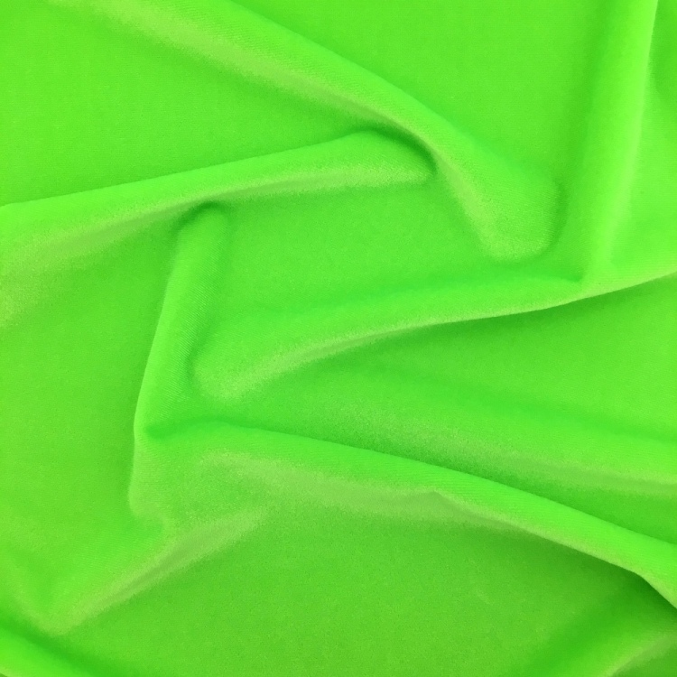 Stretch Velvet - FLUORESCENT GREEN