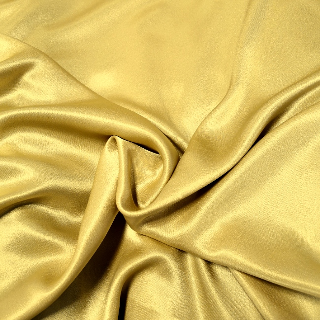 Crepe Backed Satin Gold