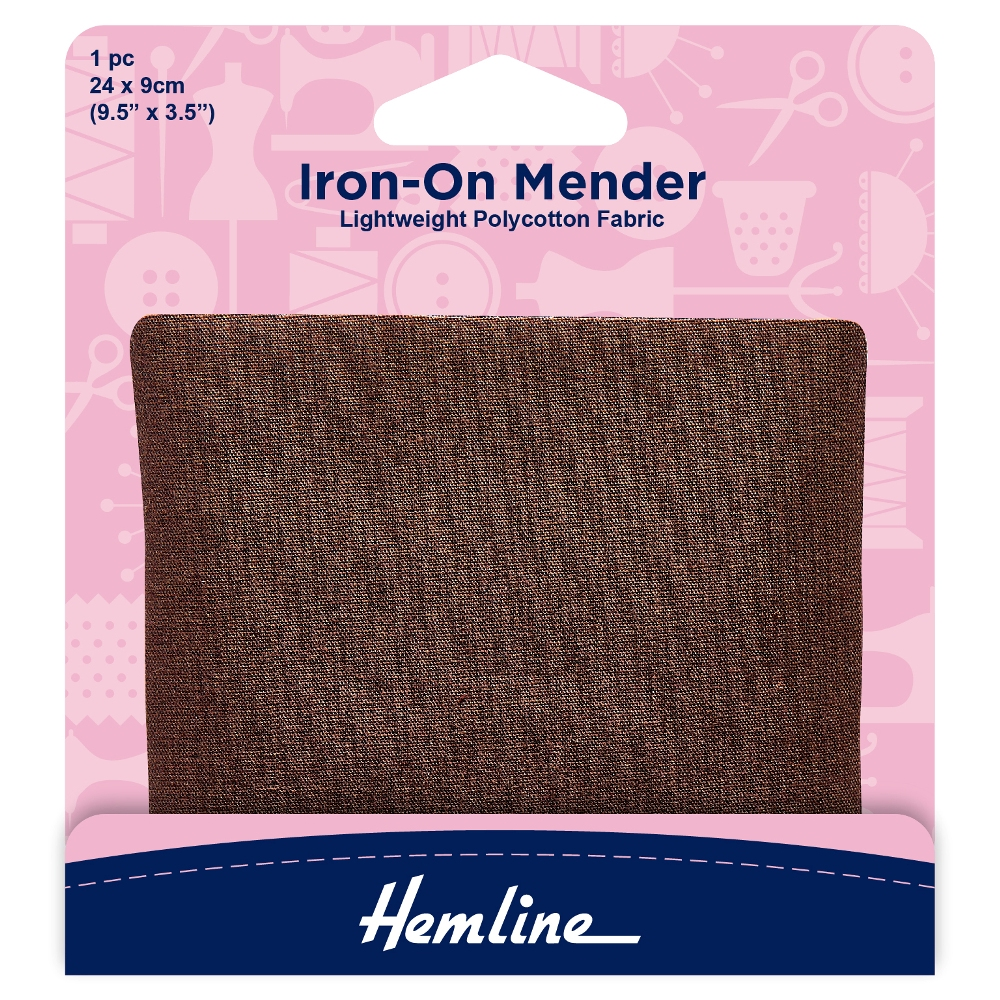 Brown Iron-On Mender