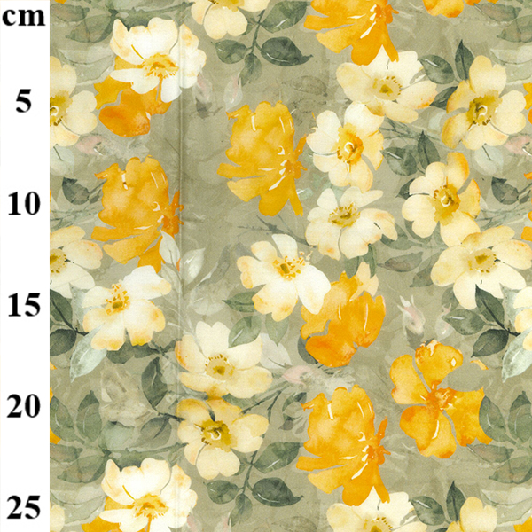100% Cotton Lawn Design 5 YELLOW FLORAL
