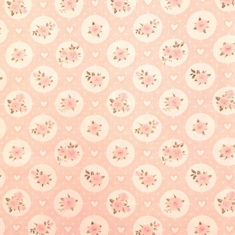100% Floral Craft Cotton PINK