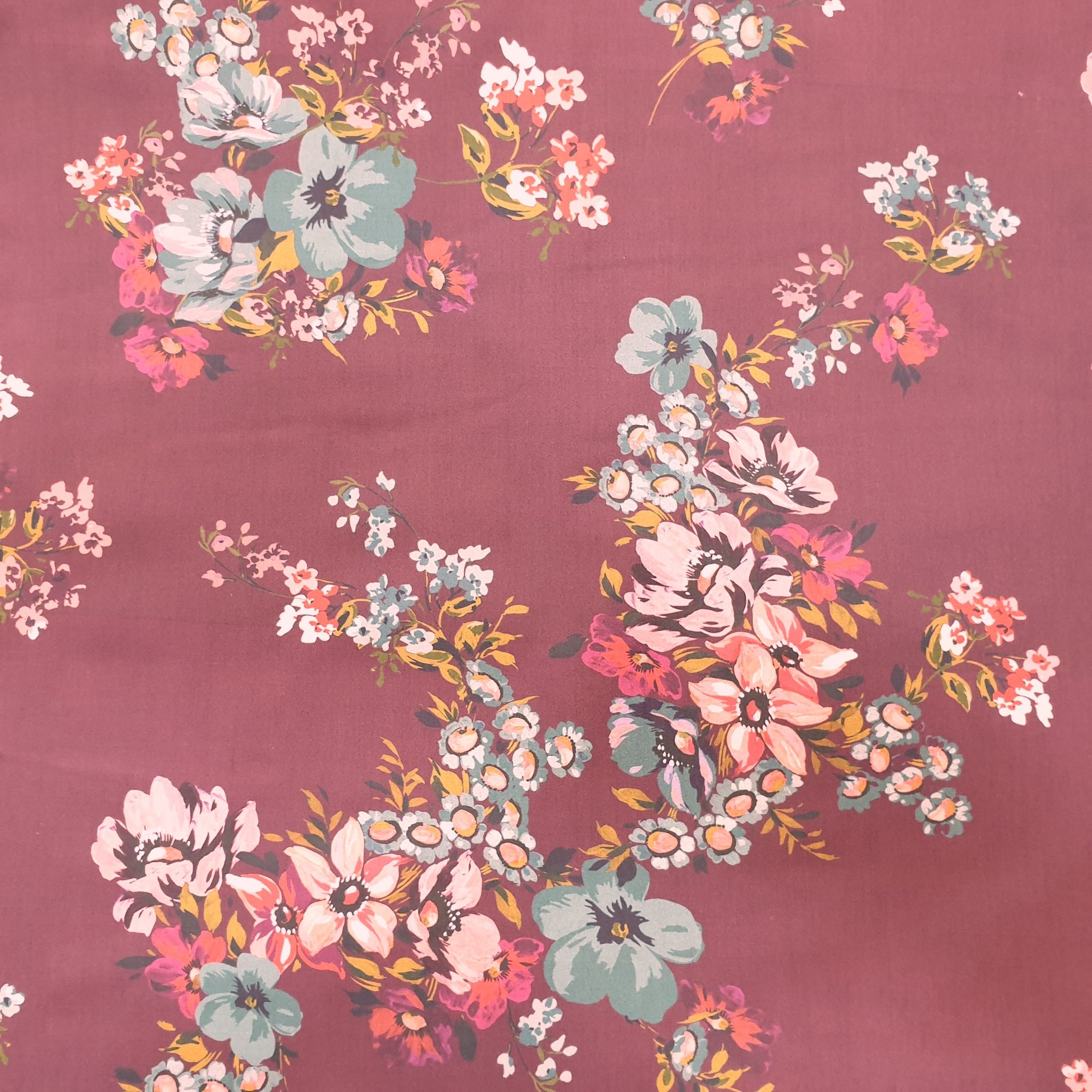 McElroy Cotton Lawn Digital Print Mulberry Blooms