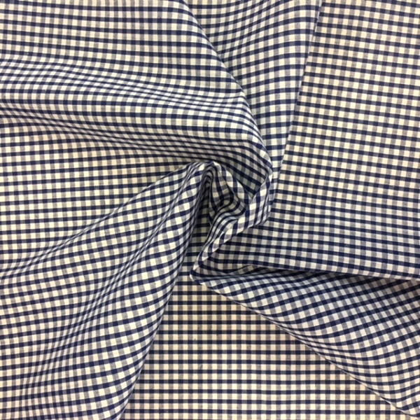 1/8'' Polycotton Gingham NAVY