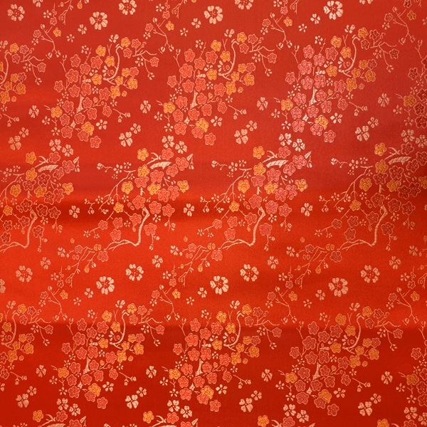 Floral Brocade RED