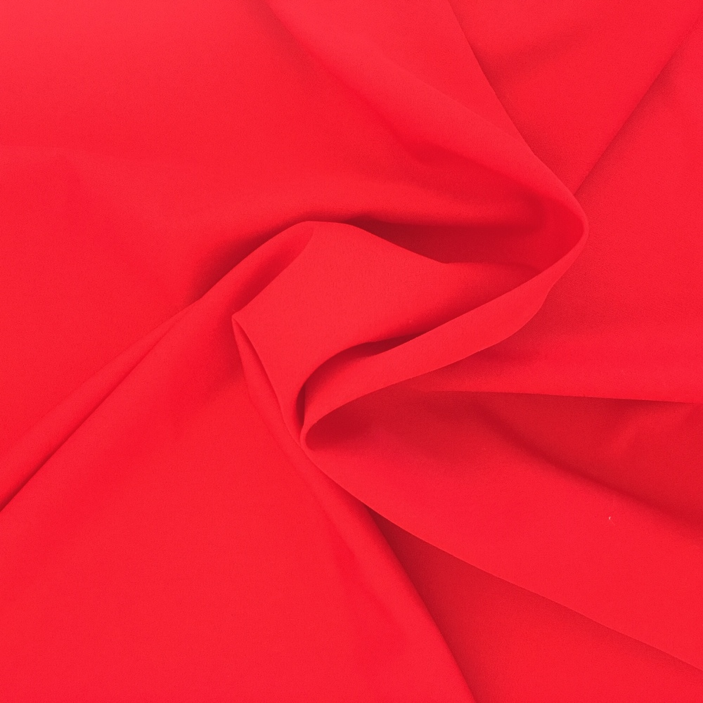 Budget Polyester by the Roll - RED