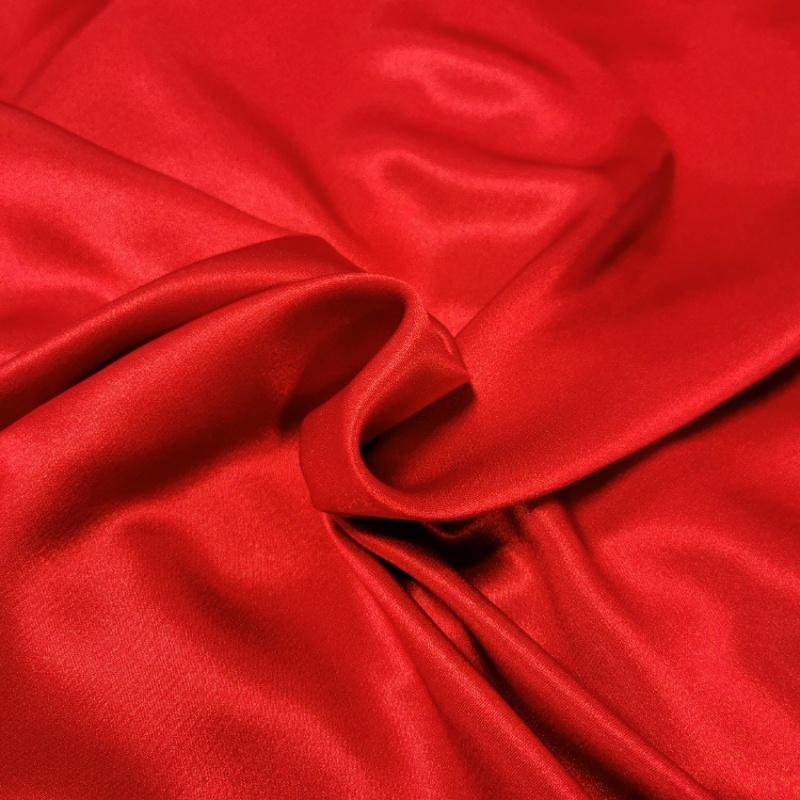Crepe Backed Satin Red