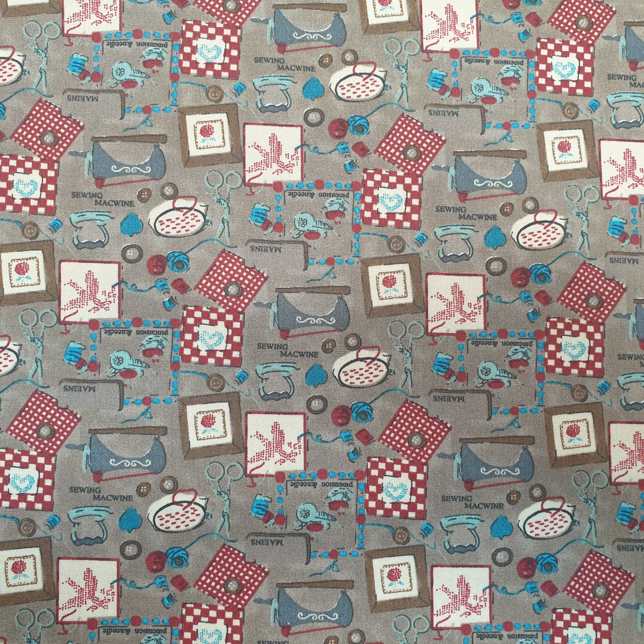 The Sewing Room 100% Cotton Design 2 BROWN