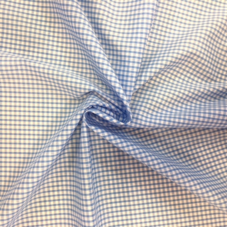 1/8'' Polycotton Gingham SKY BLUE
