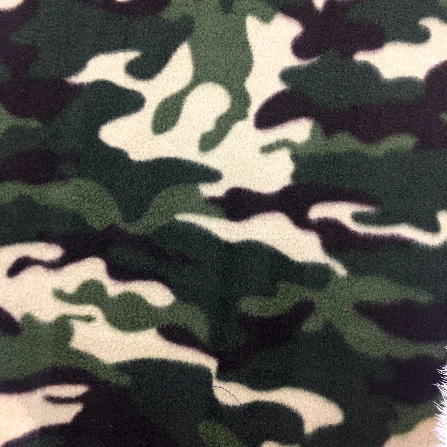 Printed Fleece Fabric - Camouflage