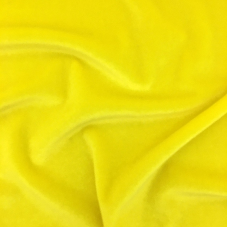 Stretch Velvet - FLUORESCENT YELLOW
