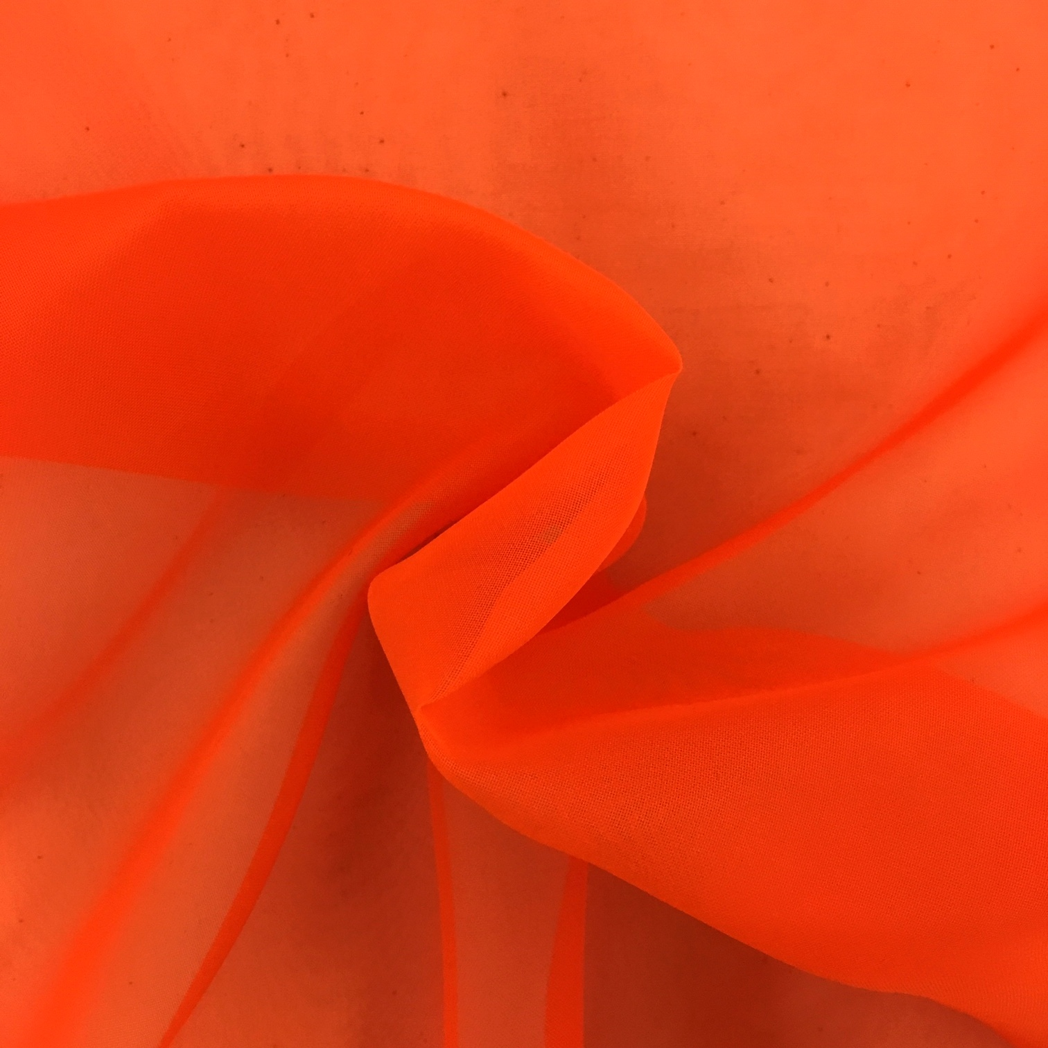 Plain Voile FLAME RETARDANT Orange
