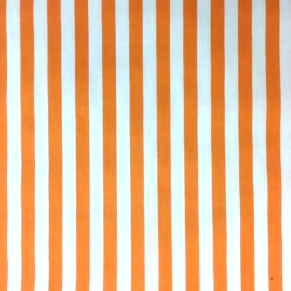 Polycotton Stripes ORANGE