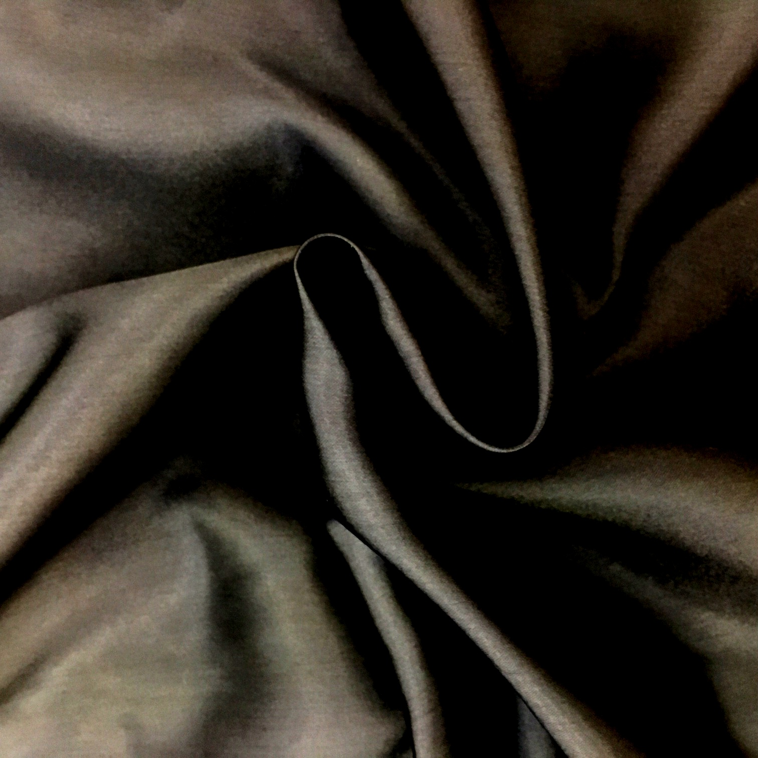 Polyester Satin - Black