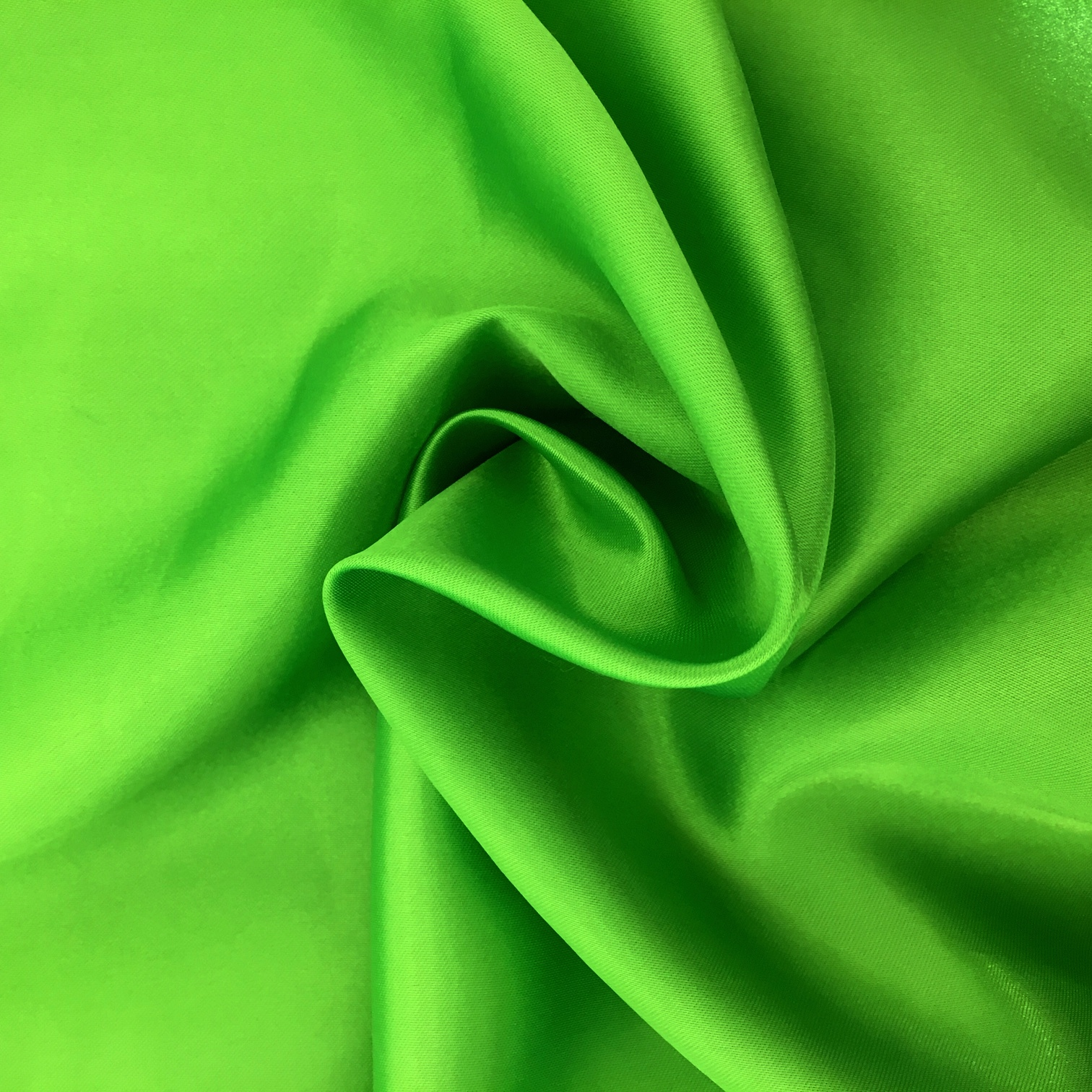 Polyester Satin - Bright Green