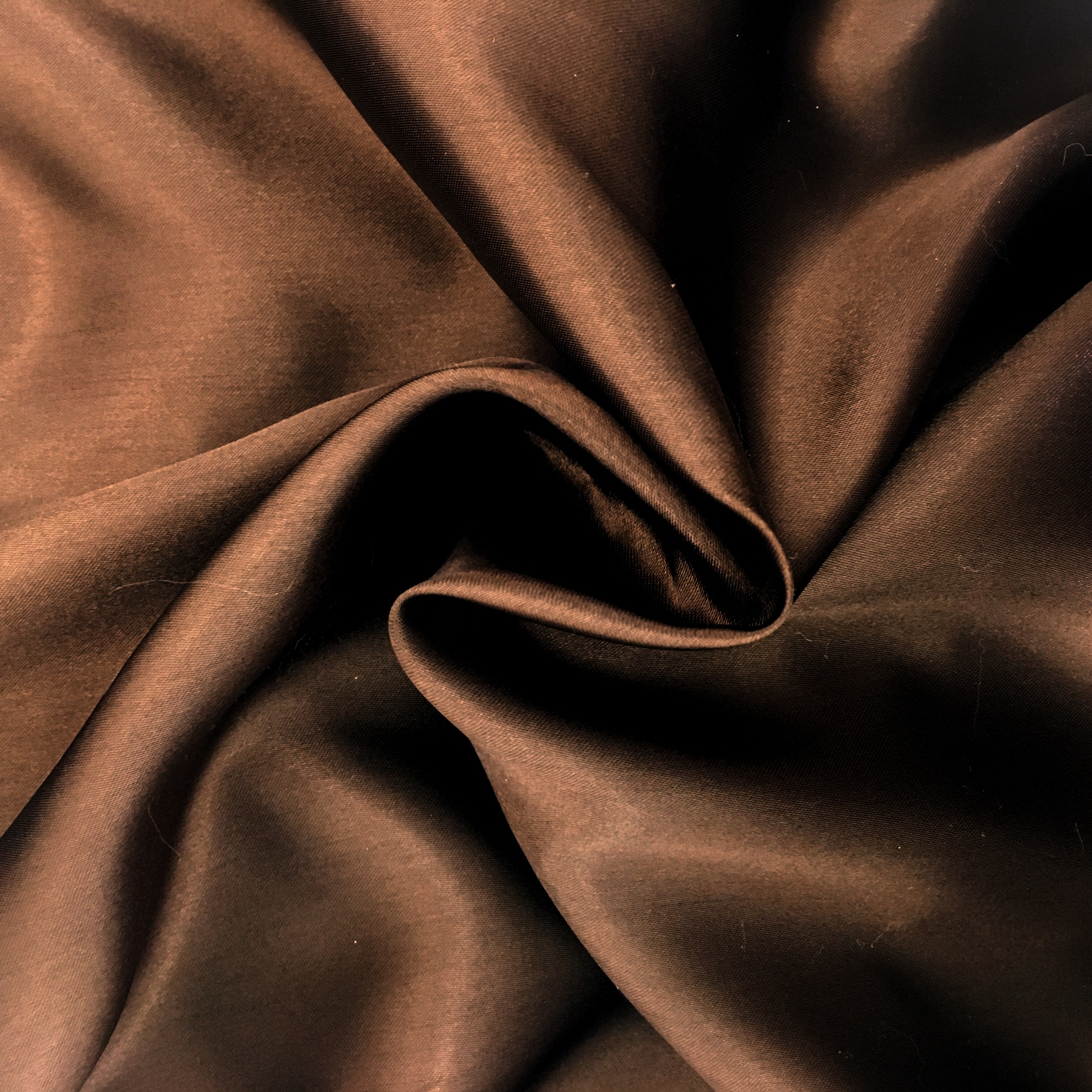 Polyester Satin - Brown