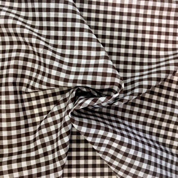 1/4 '' Polycotton Gingham BROWN