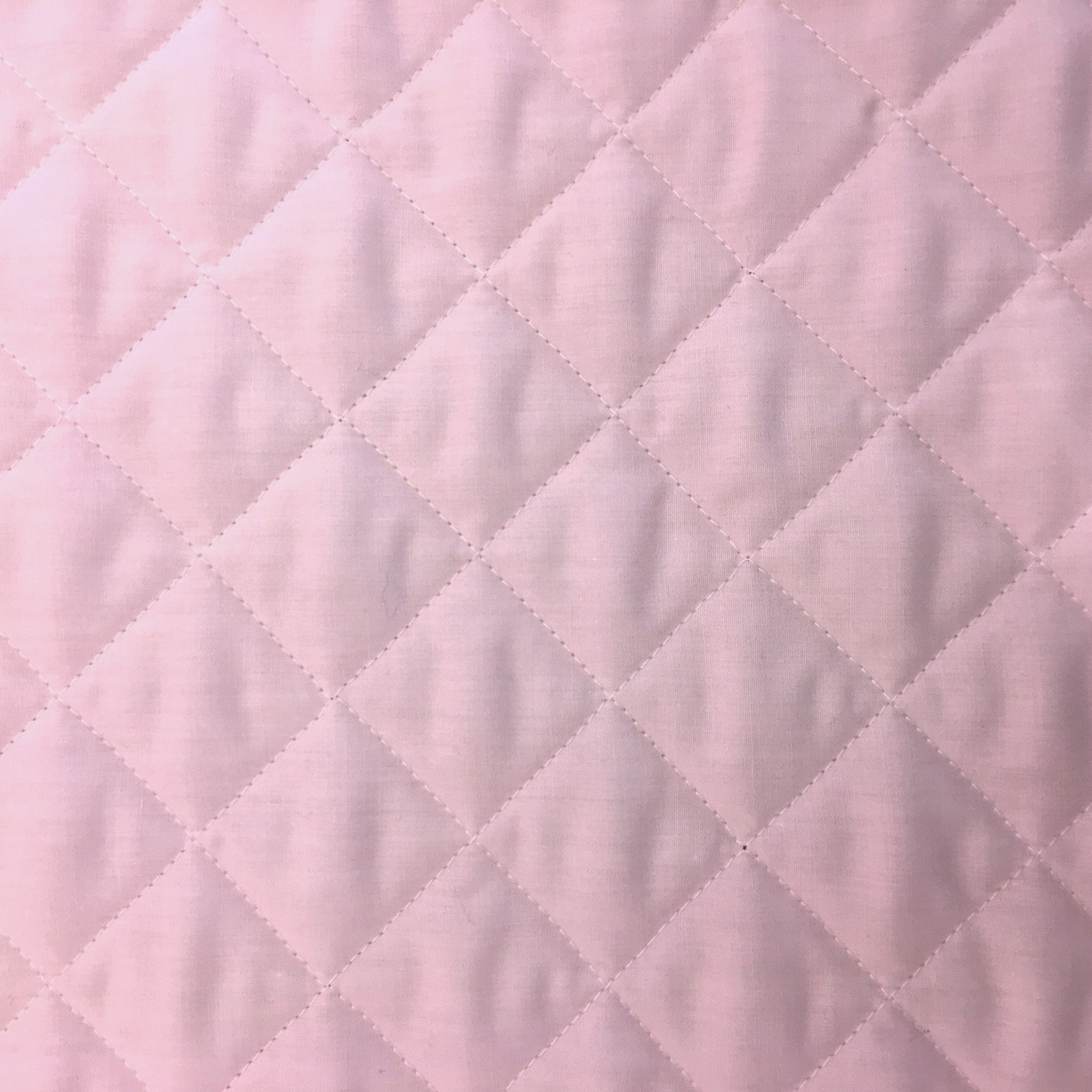 Quilted Polycotton BABY PINK