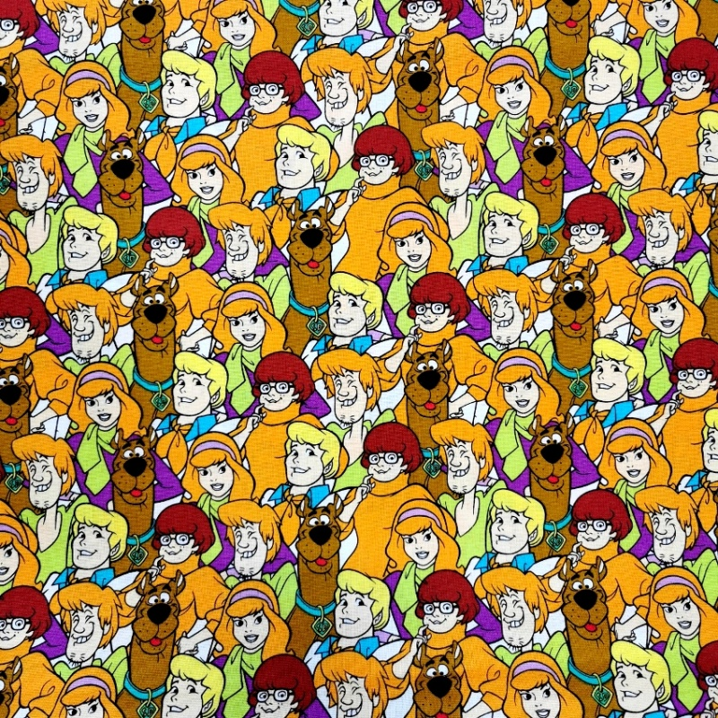 Scooby Doo Collage 100% Cotton