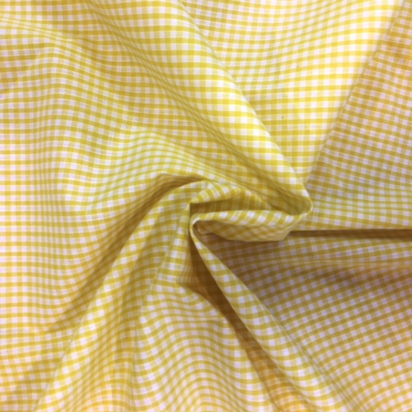 1/8'' Polycotton Gingham YELLOW