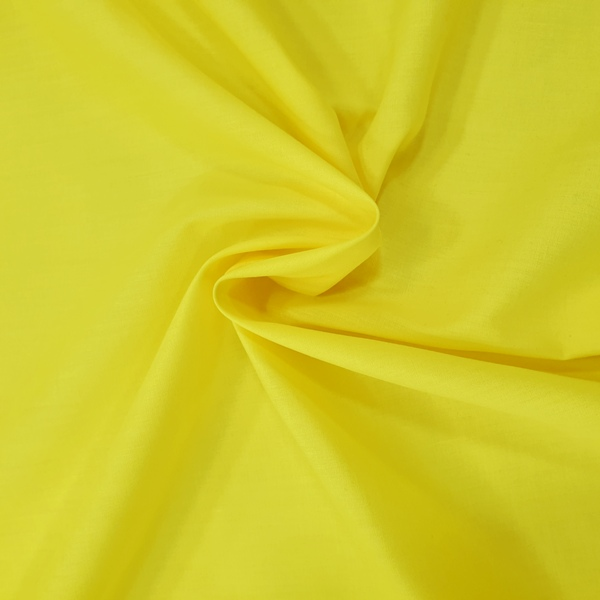 Plain Polycotton 45'' SUNSHINE YELLOW