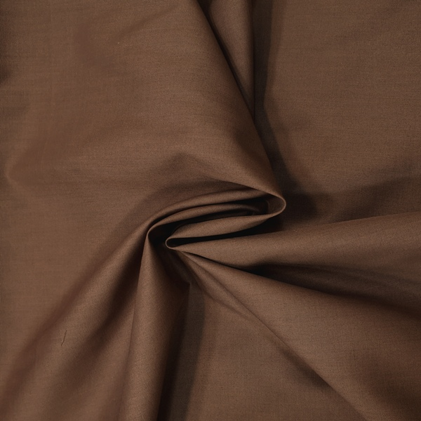 Plain Polycotton 45'' LIGHT BROWN